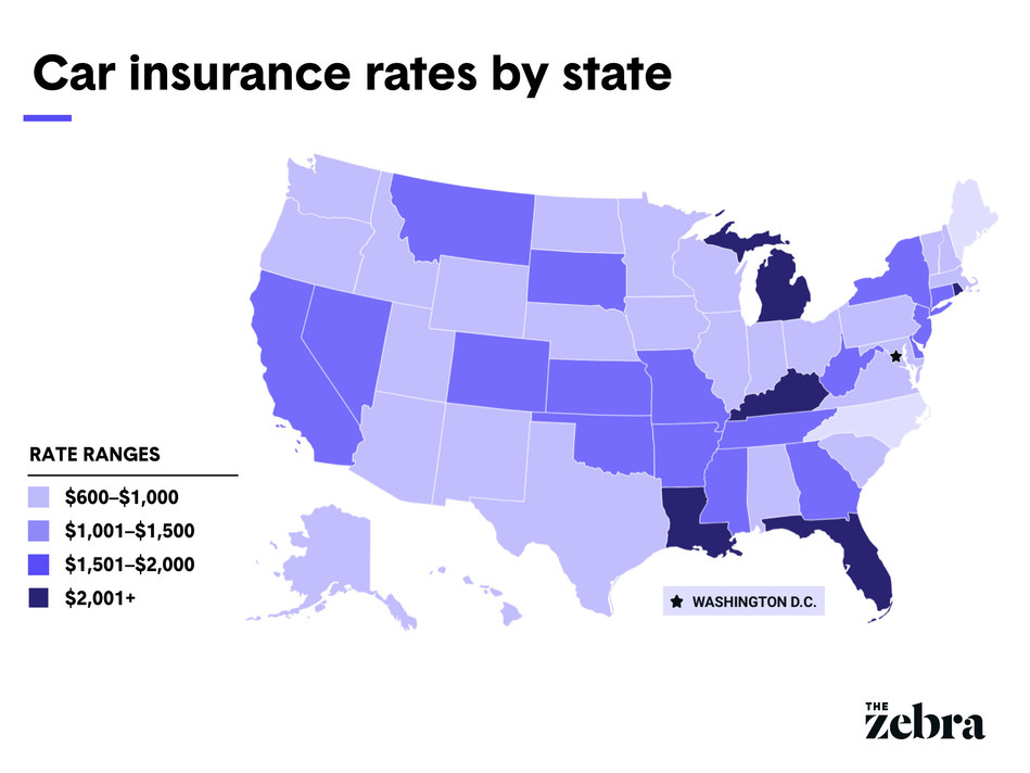 Car insurance rates by state, The Zebra's 2020 State of Auto Insurance