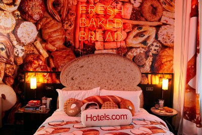 "Hotels.com Bakes Up a Carb-Lover's Paradise With the ""Bread & Breakfast"" Suite"