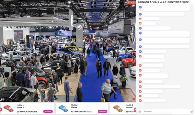 Livescale technology will make it possible for automotive enthusiasts worldwide to virtually attend unveilings of new models, and to also express their interest in said models using a prospect generating feature available only in America. (CNW Group/Palais des congrès de Montréal)