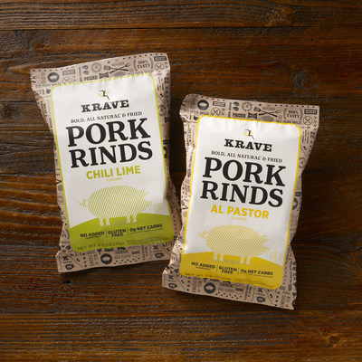 KRAVE introduces new Pork Rinds in Al Pastor and Chili Lime