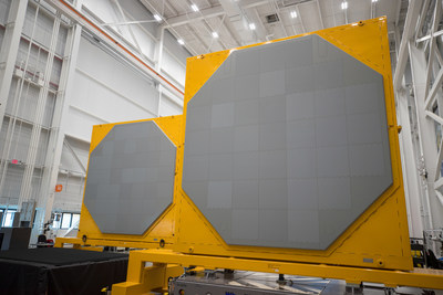 AN/SPY-6(V)1 radar arrays inside Raytheon's Andover, Massachusetts radar development facility.