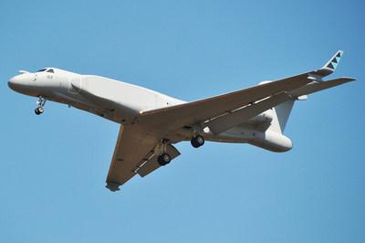 Sample CAEW-based surveillance jet photo by Wikimedia Common (PRNewsfoto/Inmarsat,Orbit Communication Sys)