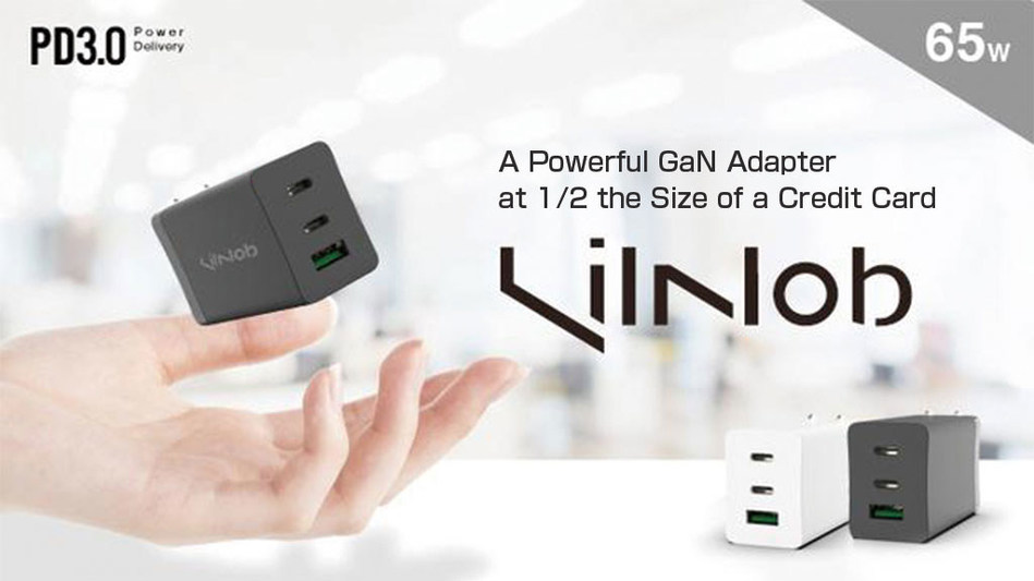 LilNob: A Powerful GaN Adapter at 1/2 Size of a Credit Card