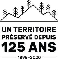 Logo : Sépaq - 125 ans de préservation (Groupe CNW/Société des établissements de plein air du Québec)