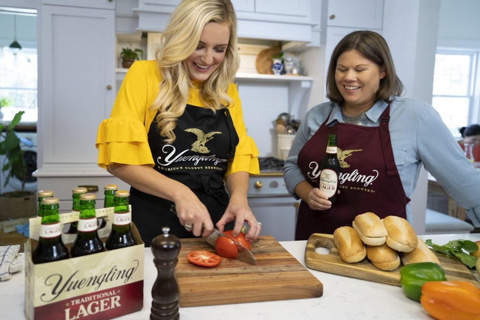 Celebrity chef Kelsey Barnard Clark and Sheryl Yuengling, 6th generation family member and graduate of the Pennsylvania School of Culinary Arts, cook up recipes featuring the bold flavors of Yuengling's iconic beers.