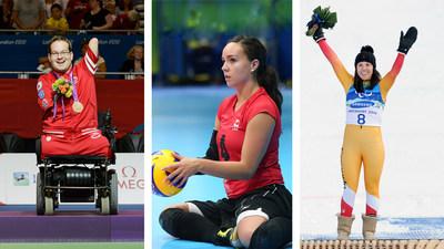G. à D.: Josh Vander Vies, Shacarra Orr, et Karolina Wisniewska se joignent à l'Équipe paralympique canadienne pour les Jeux de Tokyo 2020 dans des rôles de soutien. PHOTO: Comité paralympique canadien (Groupe CNW/Canadian Paralympic Committee (Sponsorships))