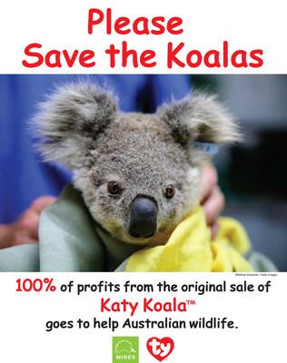泰伊-华纳发布新款Beanie Boo援助澳大利亚,呼吁大家拯救考拉