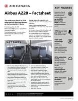 Airbus A220 – Factsheet (CNW Group/Air Canada)