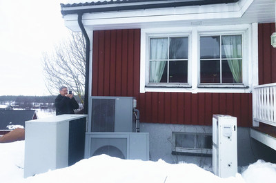 The photo shows the applications of PHNIX Inverter EVI Heat Pump in Sweden