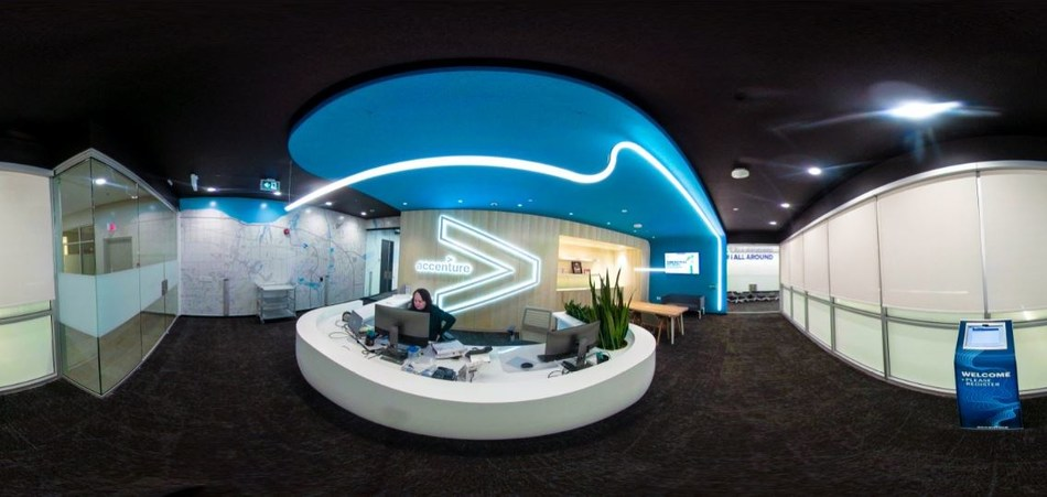 Accenture's Niagara North Intelligent Operations Centre in downtown St. Catharines, Ont. (CNW Group/Accenture)