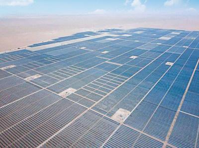 Huawei FusionSolar con LCOE óptimo populariza la nueva energía en el Medio Oriente y África (central de 300 MW de Sakaka) (PRNewsfoto/Huawei)