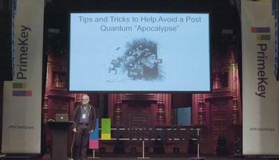 David Hook presenting at PrimeKey Tech Days 2019