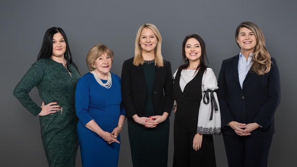 Organizers, from left to right: Svitlana Grytsenko, Jaroslawa Johnson, Alexa Chopivsky, Olga Afanasyeva and Lenna Koszarny