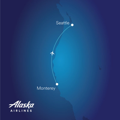 Alaska starts new service between Seattle and Monterey, California, on June 18.