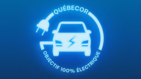 Logo: Quebecor's objective: 100% electric! (CNW Group/Quebecor)
