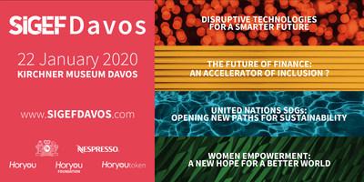 SIGEF为达沃斯带来包容性,展现支持为全球创造智能未来的愿景