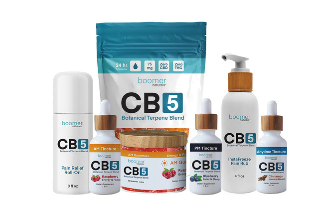 Boomer Naturals New CB5 Product Line