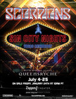 """Scorpions """"Sin City Nights"""" With Special Guest Queensrÿche Headlining Las Vegas Residency Starts Saturday, July 4 At Zappos Theater At Planet Hollywood Resort & Casino"""
