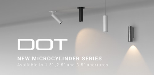 The new Dot Series   Architectural Microcylinders from Meteor Lighting