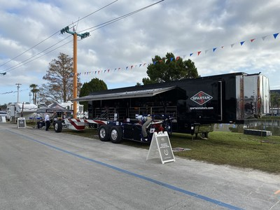 Spartan Motors unveils new chassis technology on 2020 Entegra and Newmar models and introduces the new Realm and Realm Presidential coach at the Florida RV SuperShow in Tampa.