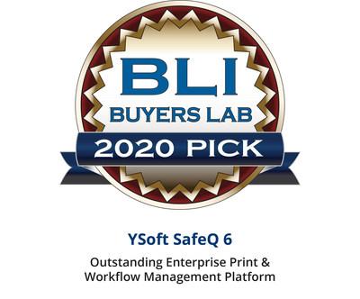 YSoft SafeQ 6 chosen by BLI as Outstanding Enterprise Print & Workflow Management Platform