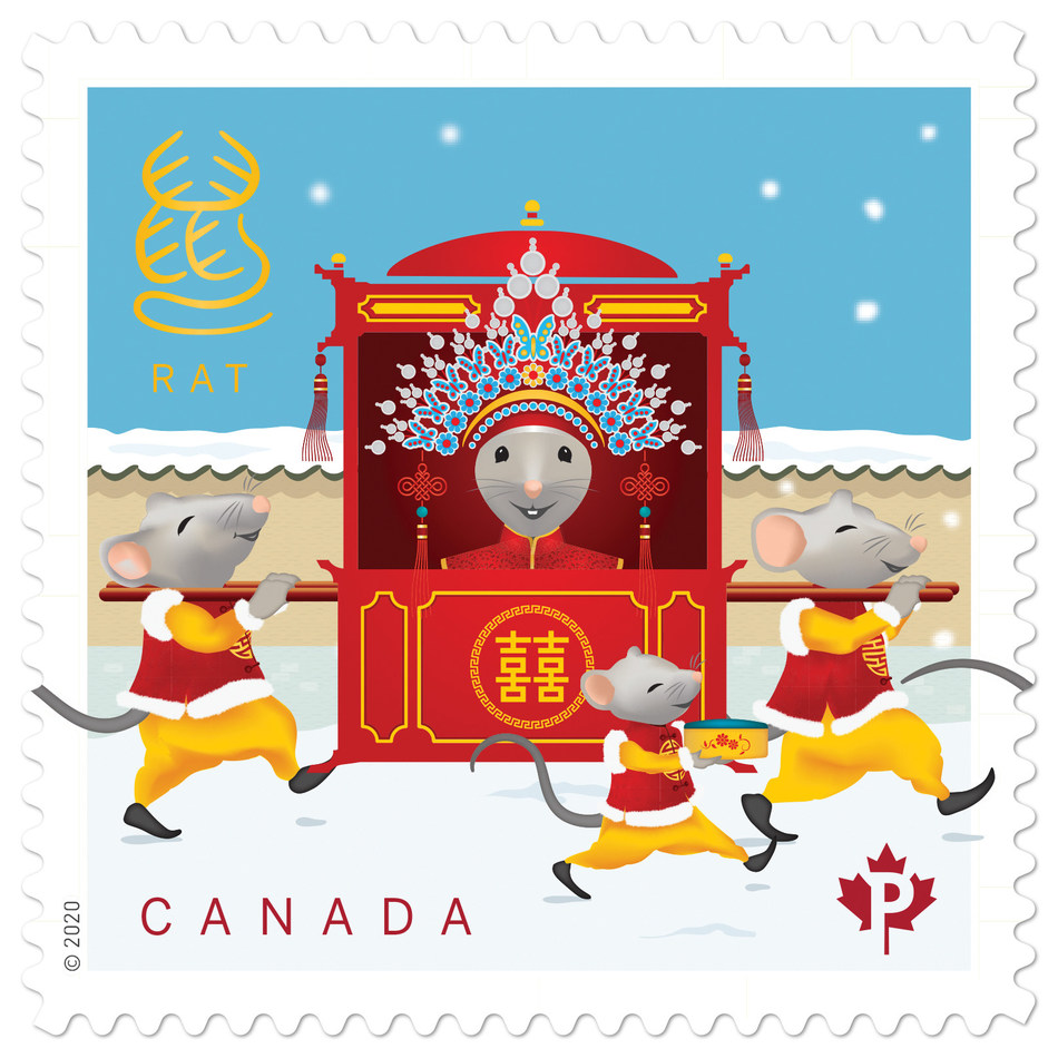 Year of the Rat stamp (CNW Group/Canada Post)