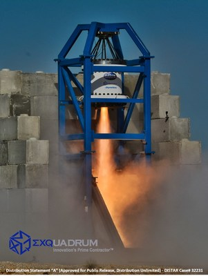 Exquadrum, Inc. successfully completed the Technology Maturation Event (TME) full-scale, hot-fire test of the company's revolutionary new rocket being developed to accomplish the DARPA Operational Fires (OpFires) advanced tactical weapon system mission objectives. The team of Exquadrum and Dynetics, of Huntsville, Alabama, are working jointly to develop the second stage of the OpFires weapon system.