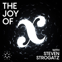 Logo for 'The Joy of x' podcast.