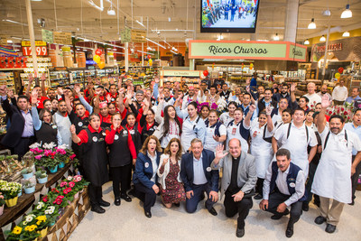 Owners of Northgate Gonzalez Market with store associates. Today the grocery chain has 41 stores and nearly 6,000 associates throughout Southern California.