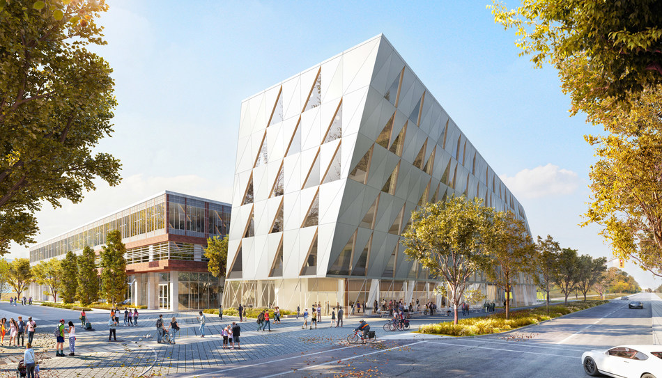 A rendering of the School of Continuing Studies upcoming innovative self-funded facility on the York campus. (CNW Group/York University School of Continuing Studies)