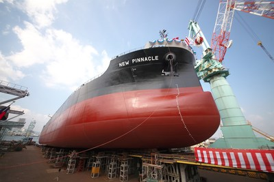 """M/V""""New Pinnacle"""" Christening and Launching Ceremony (CNW Group/Pinnacle Renewable Energy Inc.)"""
