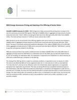 MEG Energy Announces Pricing and Upsizing of its Offering of Senior Notes (CNW Group/MEG Energy Corp.)