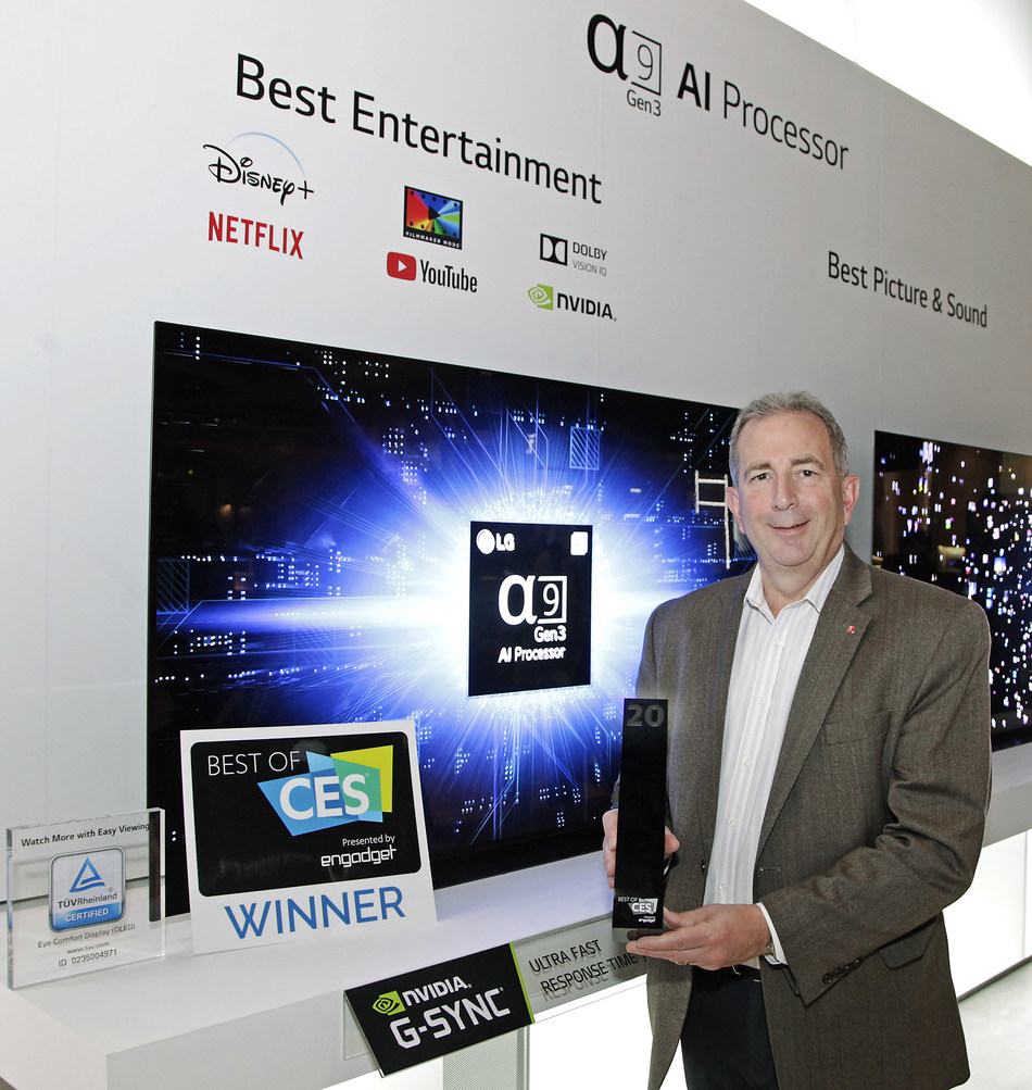 LG ELECTRONICS COLLECTS RECORD NUMBER OF AWARDS AT CES 2020 (CNW Group/LG Electronics Canada)