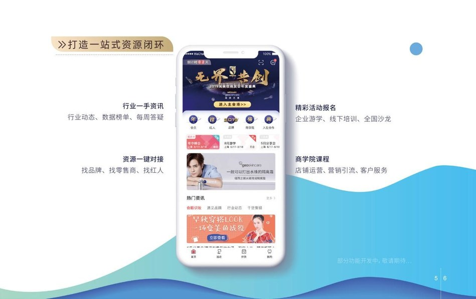 Display of the TBCCC app's features