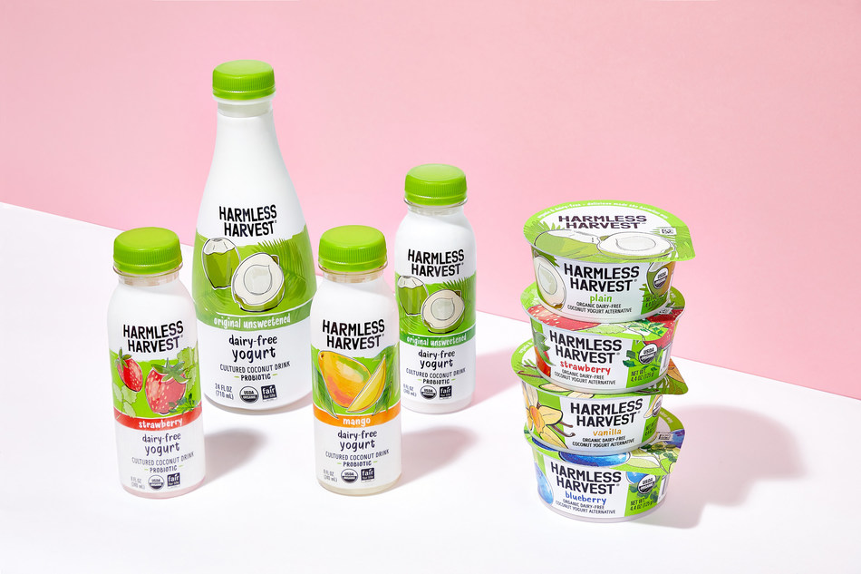 Harmless Harvest announced its expansion into a full suite of nationally-available plant-based coconut yogurt alternative products.
