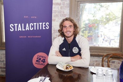 Stefanos Tsitsipas at Stalactites, Melbourne Greek Restaurant