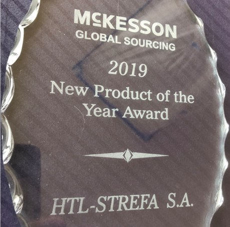 McKesson Global Sourcing presented HTL-STREFA with the 2019 New Product of the Year Award for the Prevent® DropSafe™ Safety Pen Needle.