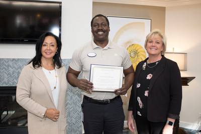 Lynn Biot Gordon, COO of the NCCDP; Jean 'Francois' Belizaire, recipient of the 2019 CNA of the year award; Rhonda Brand, President of NCCDP