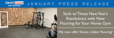 Stick to those New Year's Resolutions with new flooring for your home gym from SMART Carpet and Flooring
