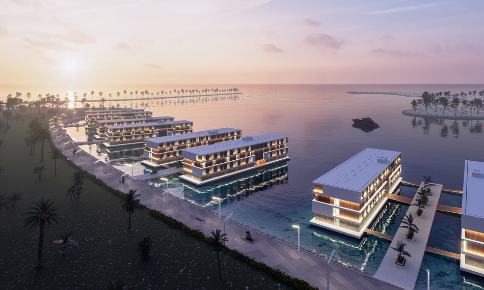 ADMARES Floating Hotels for Qetaifan Island North