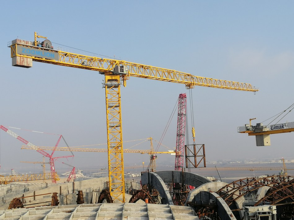 Zoomlion Exports China's Largest Tonnage Flat-Top Tower Crane to New Terminal of Kuwait International Airport