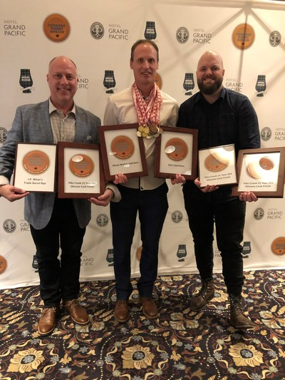 Corby Spirit and Wine's whiskies earned top accolades at the 2020 Canadian Whisky Awards (CNW Group/Corby Spirit and Wine Communications)