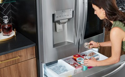 LG refrigerators with Craft Ice are the first of their kind in the industry and bring one of the most prolific beverage trends into the home by automatically making slow-melting round ice (measuring 2 inches in diameter) without the hassle of manually filling and freezing ice molds.