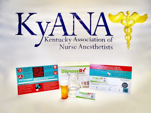 As part of its Opioid Stewardship efforts, the Kentucky Association of Nurse Anesthetists (KyANA) will distribute customized DisposeRx patient engagement materials and donated packets to educate members and encourage them to share the information even more broadly and specifically to rural pharmacists throughout the state.