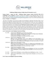 Wallbridge Drilling Starting to Outline Open Pit Potential in Area 51 (CNW Group/Wallbridge Mining Company Limited)