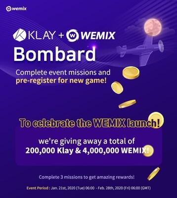 Promoción por lanzamiento de WEMIX