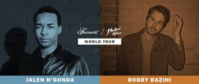 O Fairmont Hotels & Resorts expandiu sua parceria com o Festival de Jazz de Montreux mundialmente, para incluir uma turnê musical por 13 cidades, com apresentações especiais de Jalen N'Gonda e Bobby Bazini. (CNW Group/Fairmont Hotels & Resorts)