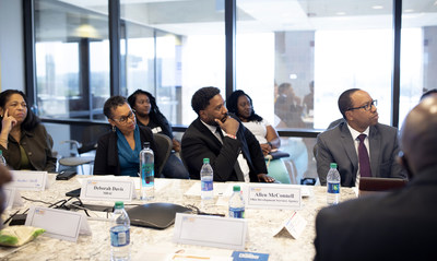 Members of the banking community gather at the inaugural Bankers Roundtable event. Launched in August, this quarterly series offers small business owners and entrepreneurs access to a strategic network of lending experts and resources to help build their businesses and create new jobs.