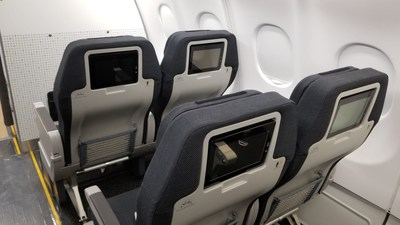Cabin seat back video screens