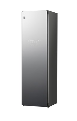 "LG Electronics' market-leading line of steam clothing care systems is expanding in 2020 with the all-new large-capacity ""LG Styler Plus,"" featuring a new Tinted Black Mirror finish."